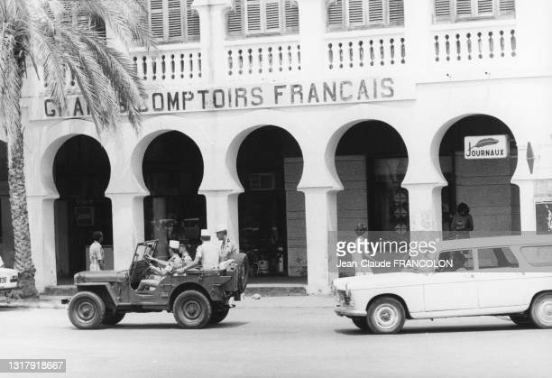 Soldats de la légion étrangère devant les comptoirs français à Djibouti en août 19757.