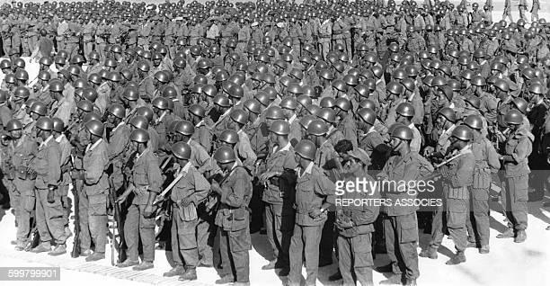 Soldats de l'armée algérienne en Algérie