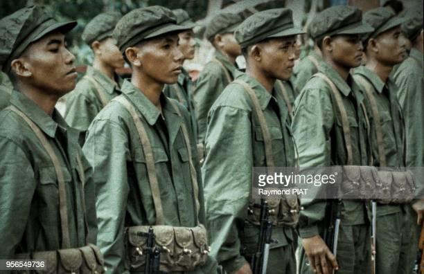 Soldats Khmer Rouge juillet 1984 province de Pailin Cambodge