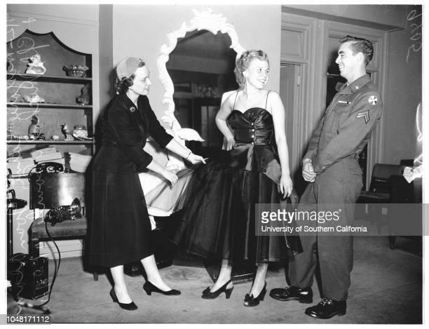 Soldier and bride 29 November 1951 Marjorie Carne Joane Adams Michael O'Rourke Mrs Winifred Adams