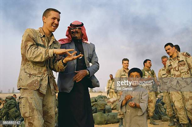 Soldier and Saudi Nomads