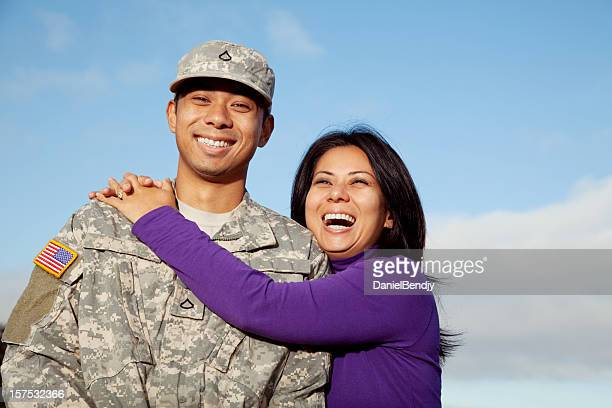 U S Soldier and Wife