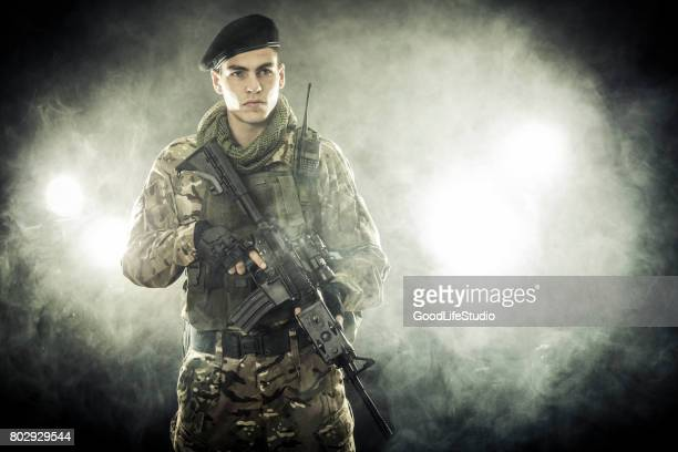 soldier at night - swat stock pictures, royalty-free photos & images
