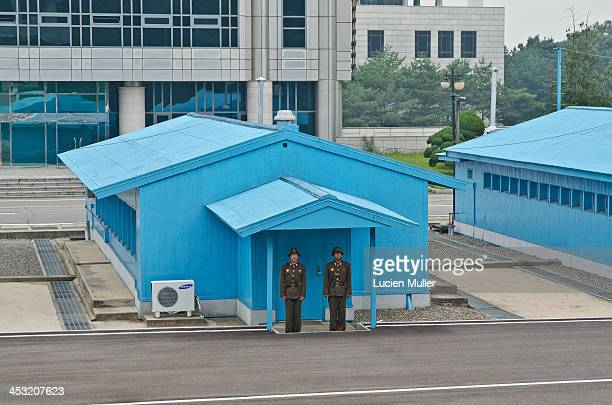 CONTENT] Soldier at the DMZ in Panmunjom