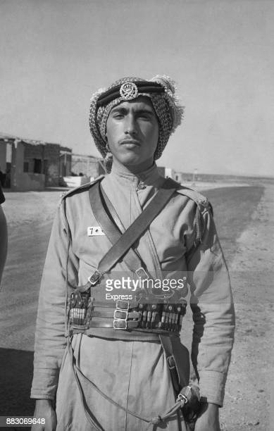 Soldier at the Jordan border post to enter Iraq, July 1958.