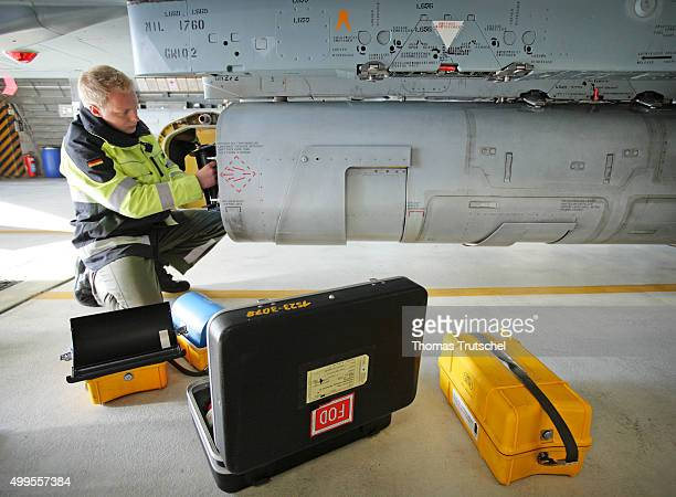 A soldier changes the film cassette at a RECCE Tornado after its use on October 23 2008 in Jagel Germany The films are then developed and evaluated