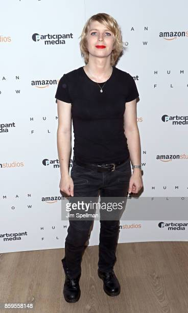 Soldier Chelsea Manning attends the Human Flow New York screening at the Whitby Hotel on October 9 2017 in New York City