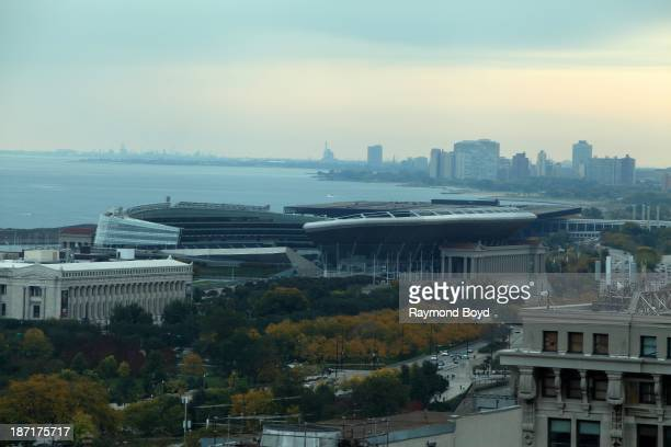 Soldier Field home of the Chicago Bears as photographed from Roosevelt University's Wabash Tower during the Chicago Architecture Foundation's Open...