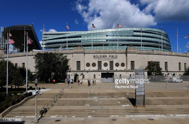 Soldier Field, home of the Chicago Bears football team in Chicago, Illinois on September 23, 2019.