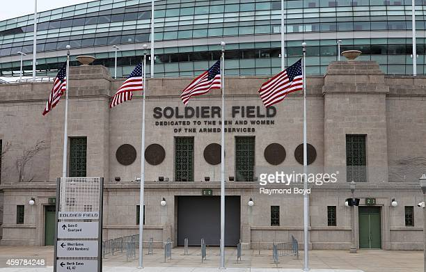 Soldier Field home of the Chicago Bears football team in Chicago on November 26 2014 in Chicago Illinois