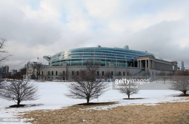 Soldier Field home of the Chicago Bears football team in Chicago Illinois on JANUARY 20 2014