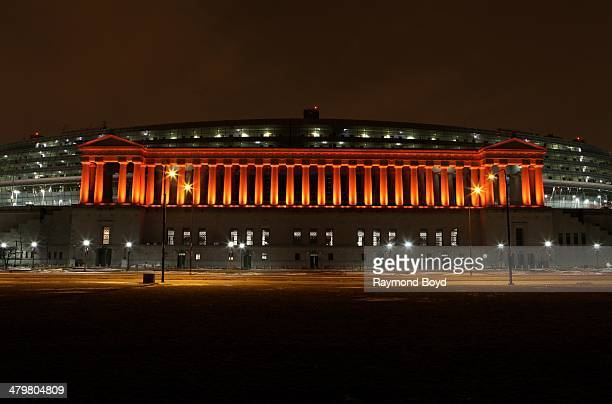 Soldier Field, home of the Chicago Bears football team in Chicago, Illinois on MARCH 07, 2014.