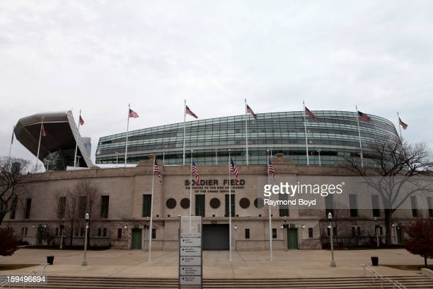 Soldier Field home of the Chicago Bears in Chicago Illinois on JANUARY 12 2013