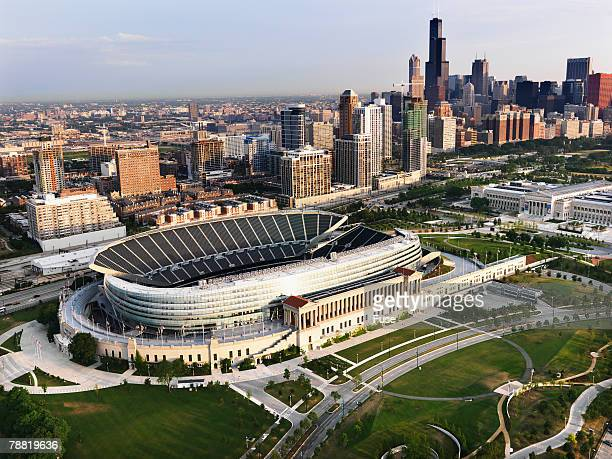 soldier field - cook county illinois stock photos and pictures