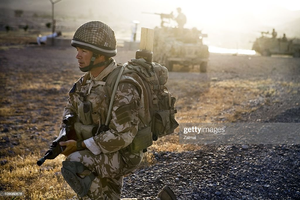 A soldier from D Company 2nd Battalion Parachute Regiment on