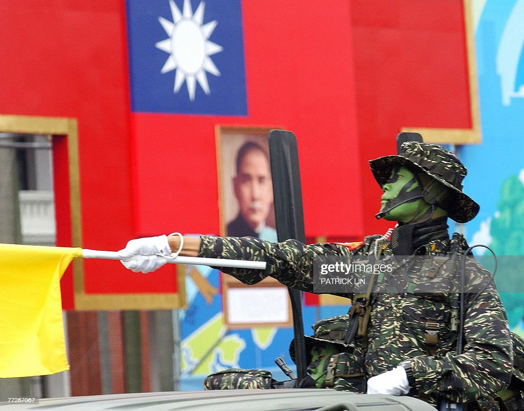 A soldier from one of Taiwan's elite spe : Foto di attualità