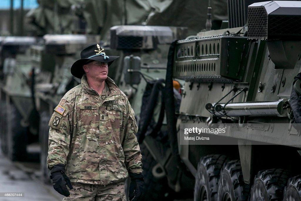 "U.S. Troops Cross Czech Republic In ""Operation Atlantic Resolve"" Exercises : News Photo"