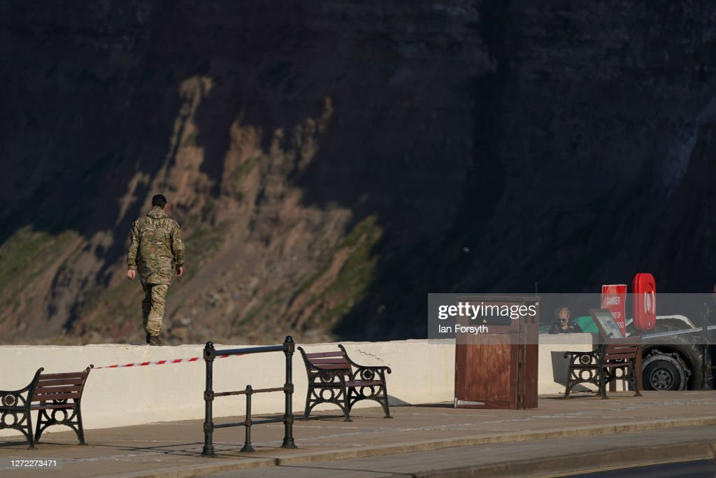 Grenade Found On Beach At Saltburn-by-Sea : News Photo