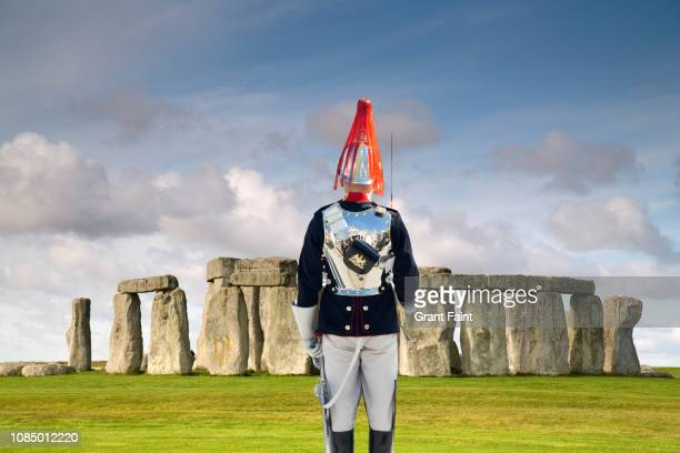 soldier, guard standing at attention at monument. - ancient history stock pictures, royalty-free photos & images