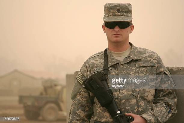 Soldier in a Sandstorm
