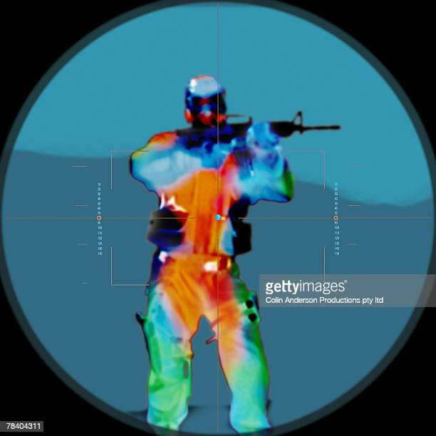 Soldier in infrared