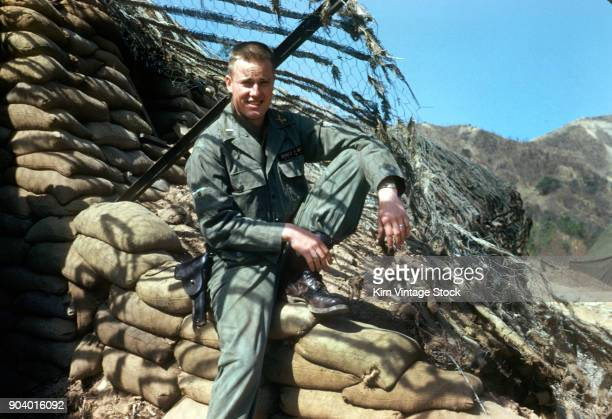 american serviceman at his post during