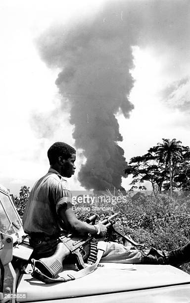 A soldier in the Biafran War Nigeria