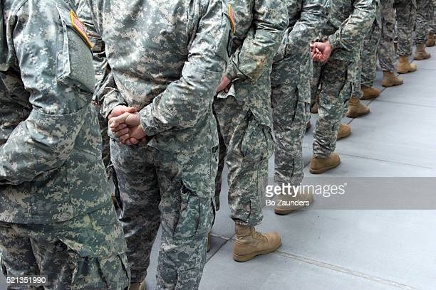 soldier lineup - army stock pictures, royalty-free photos & images