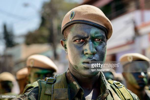 soldier makeup camouflage jungle - dictator stock pictures, royalty-free photos & images