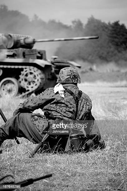 soldier near tank. - german military stock pictures, royalty-free photos & images