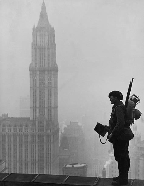 Soldier In Manhattan Wall Art