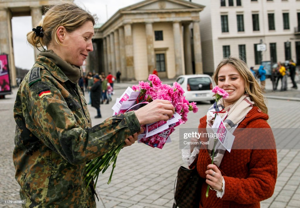Berlin Celebrates International Women's Day With A New Holiday : News Photo