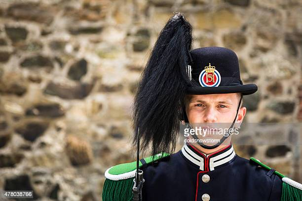 Soldier of the Norwegian Royal Guard at Akershus Fortress, Oslo