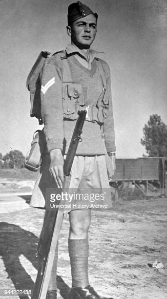 Soldier of the Palmach's the elite unit of the Haganah or Jewish underground army in Palestine 1948