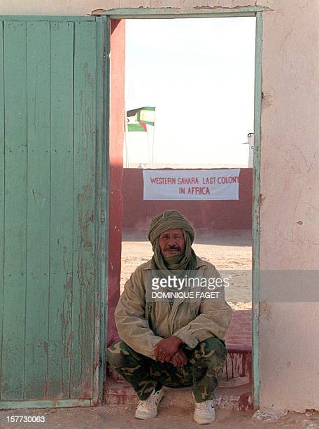 A soldier of the Polisario front pose at Samra's refugees camp near 30 November in Tindouf Algeria A ceasefire in the conflict opposing the Polisario...