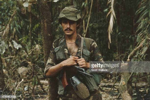 A soldier of the Sandinista Popular Army Nicaragua 1987