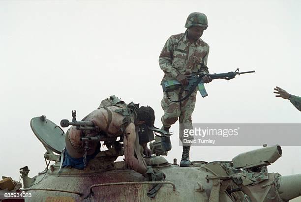 Soldier on Iraqi Tank