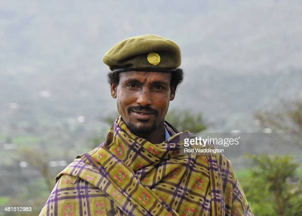 Soldier on patrol in tigray, ethiopia
