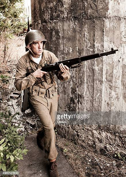 Soldier on Patrol WWII