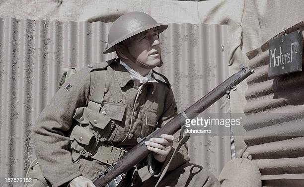 ww1 soldier. - world war i stock photos and pictures