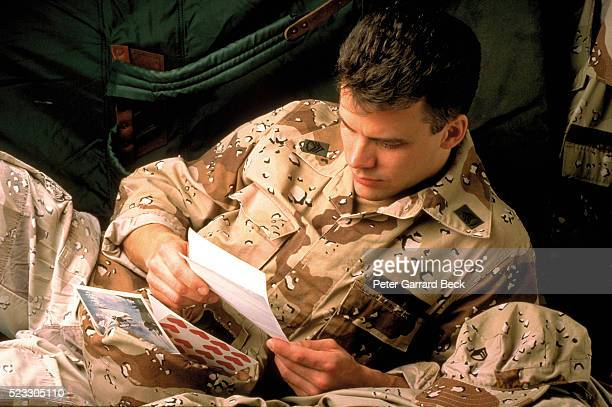 Soldier Reading Letter