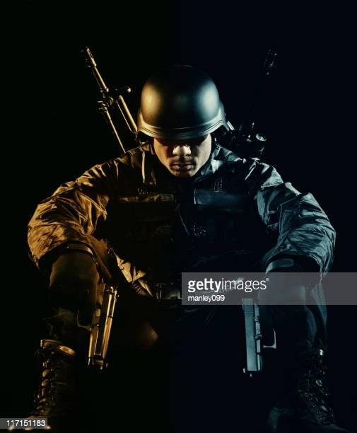 Soldier resting