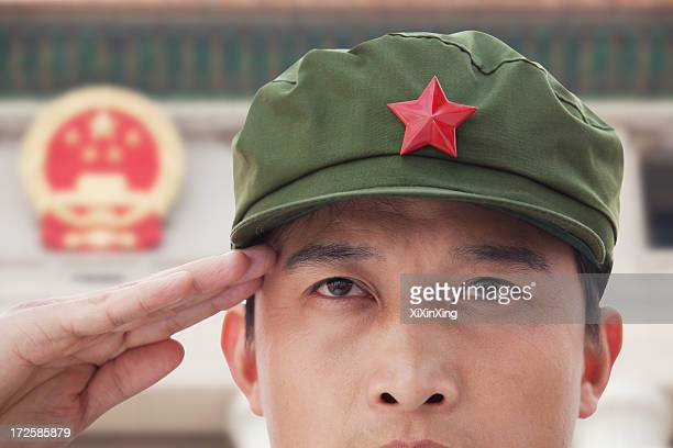 soldier saluting - communism stock pictures, royalty-free photos & images
