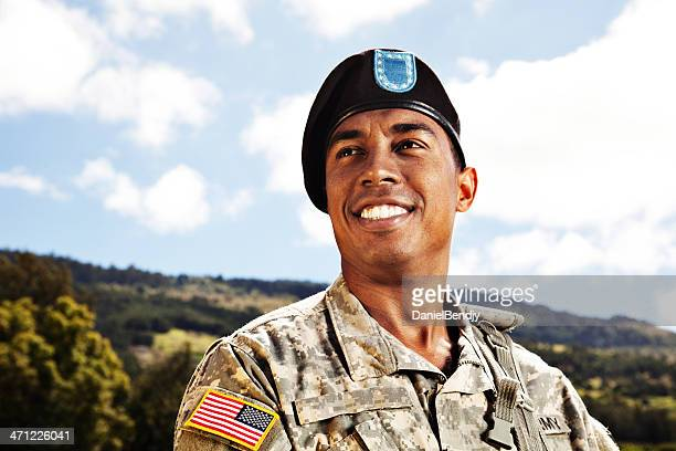 US Soldier Smiling
