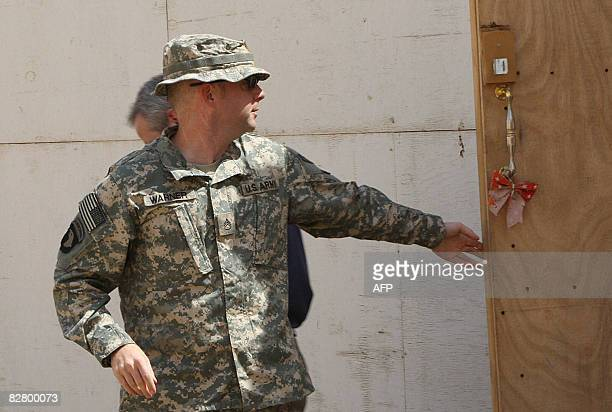 US soldier Staff Sergeant Hal Warner is seen leaving the courtroom following the first day of his two day court hearing at the Contingency Operating...