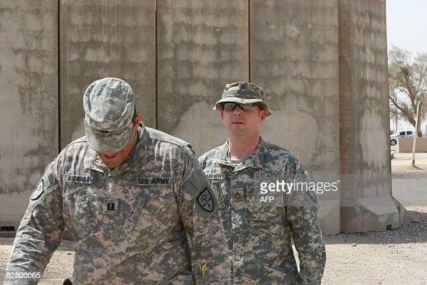 US soldier Staff Sergeant Hal Warner is seen walking following the first day of his two day court hearing at the Contingency Operating Base Speicher...