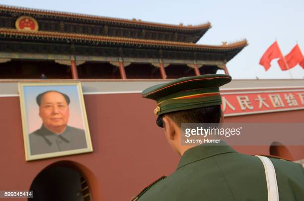 Soldier Standing Outside Tiananmen Gate