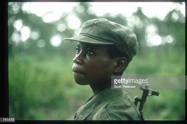 UNITA soldier stands January 23 1990 near Jamba Angola The National Union for the Total Independence of Angola and the Marxist forces in the capital...