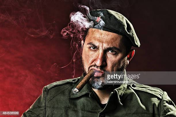 soldier with a cigar - dictator stock pictures, royalty-free photos & images