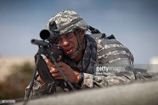 US soldier with a sniper rifle